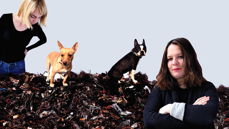 Ivana Veselková a Zuzana Fuksová se svými psy