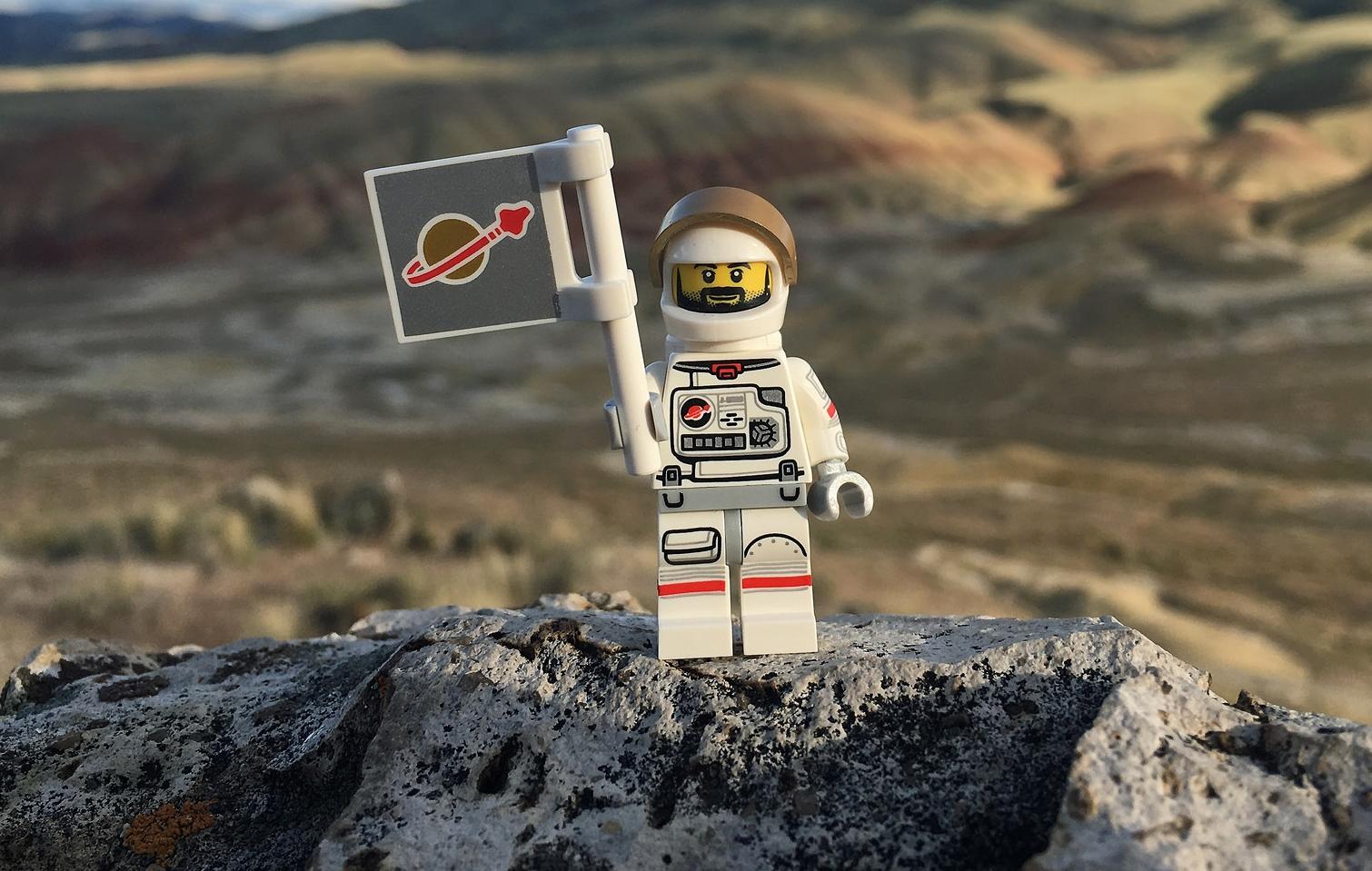 Lego kosmonaut - vesmír