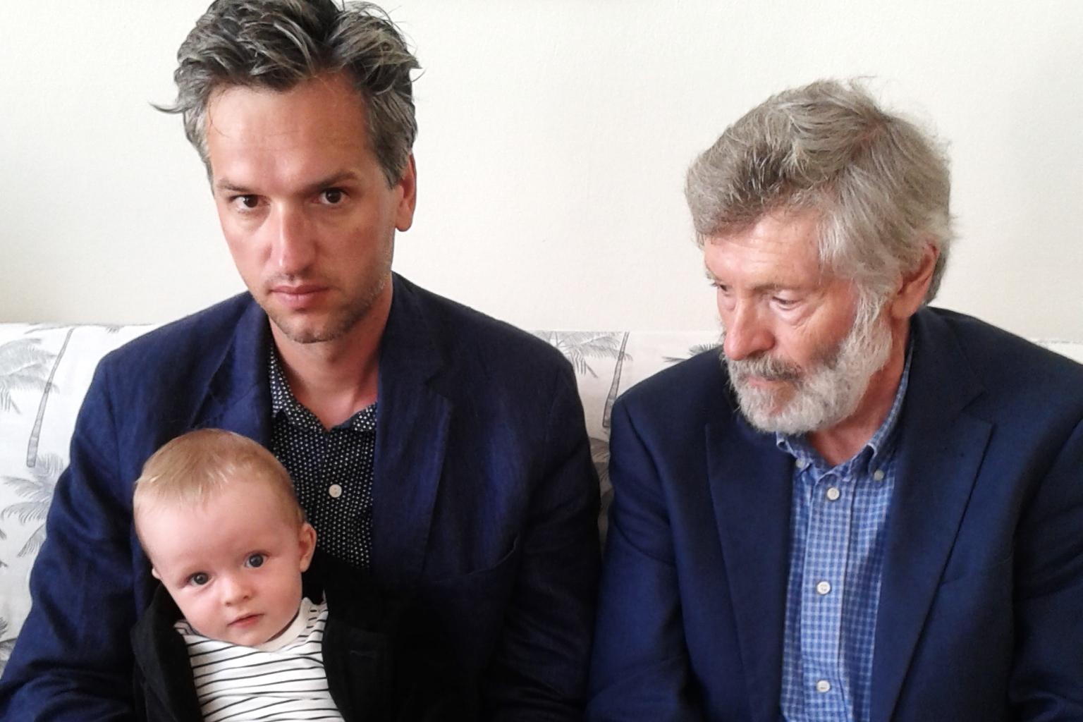 Adam Gebrian, jeho syn Filip a otec Jiří