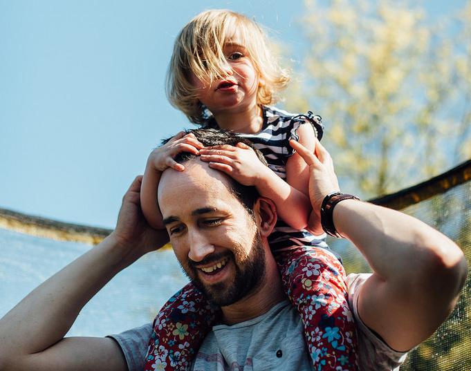 Tatínek s dcerou - otec a dcera