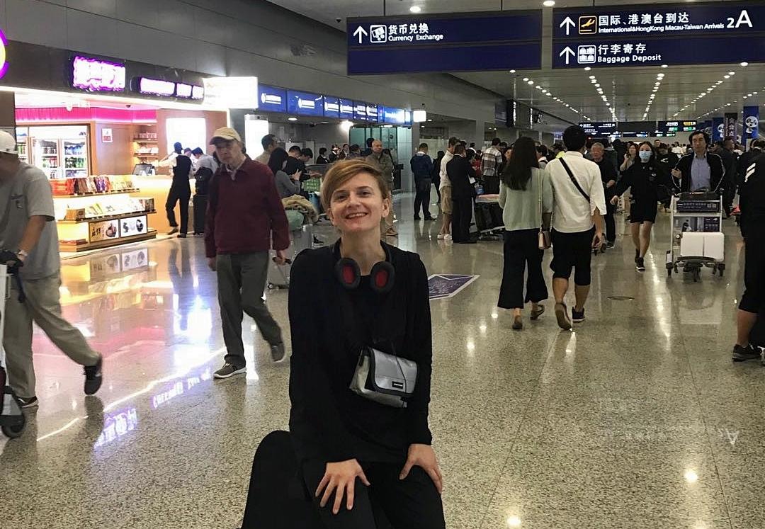 Moderátorka Anita v Šanghaji