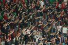 Maďarští fanoušci při zápase Maďarska s Německem v Mnichově