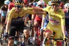 Primož Roglič a Tadej Pogačar na Tour de France 2020