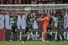 Ze zápasu Slavie a Ferencvárose