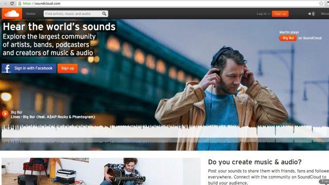 Screenshot ze Soundcloudu