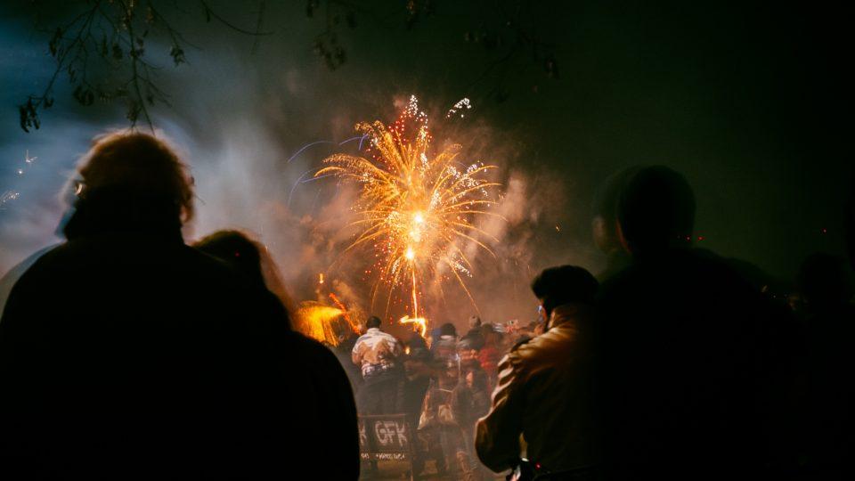ohňostroj - Nový rok