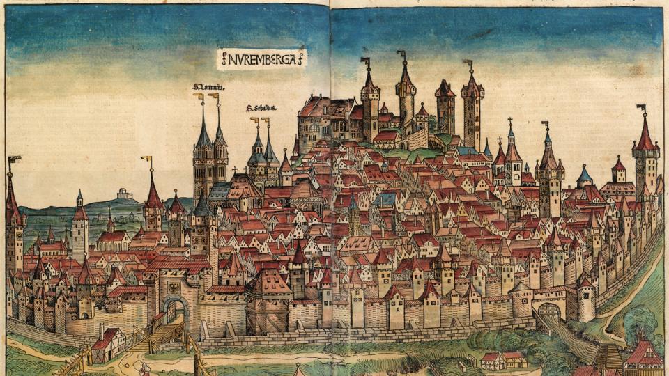 Norimberk na dřevorytu, 1493