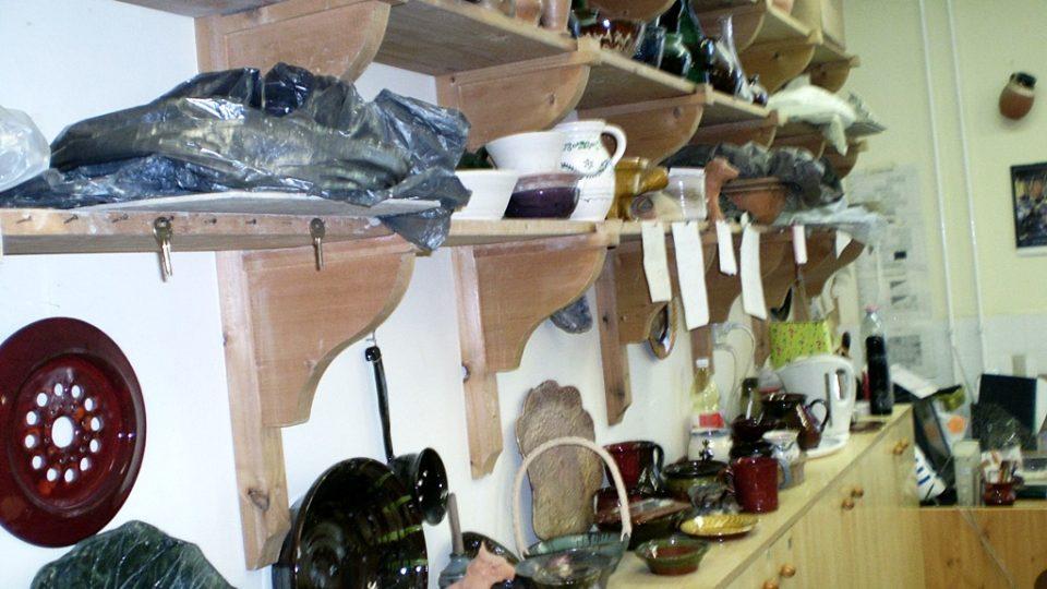 Výsledky práce studentů odboru keramika-hrnčířství