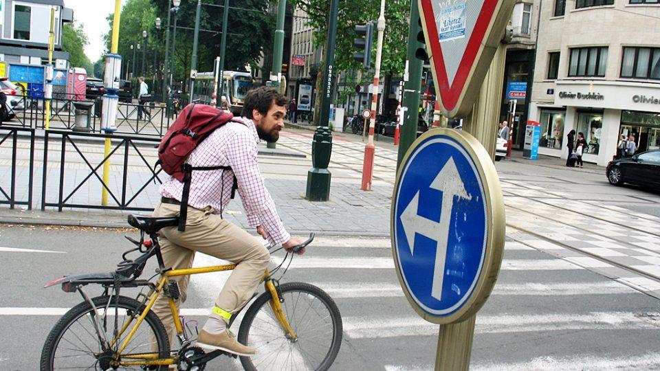 Blaž Višnar - na kole z práce