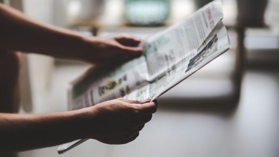 Noviny - tisk - čtení