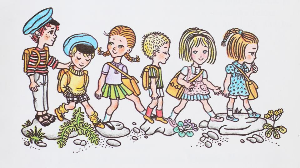 Ilustrace z knihy Děti z Bullerbynu autorky Astrid Lindgrenové