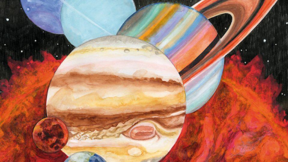 Z přebalu alba Planetarium od Sufjana Stevense