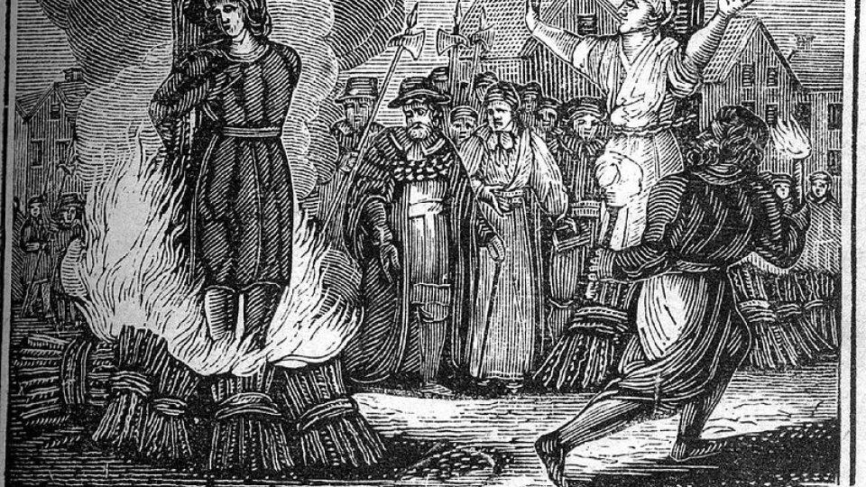 Upalování čarodějnice (ilustrace z 19. století)