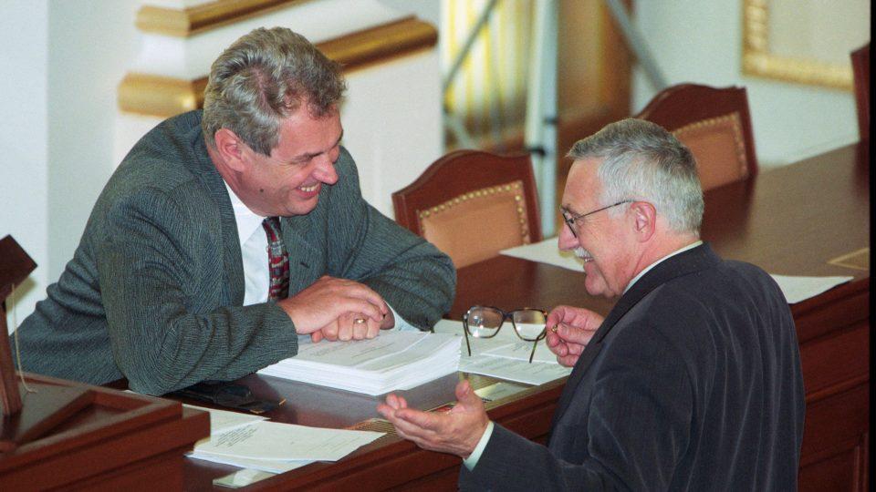Političtí protivníci i přátelé, Miloš Zeman a Václav Klaus
