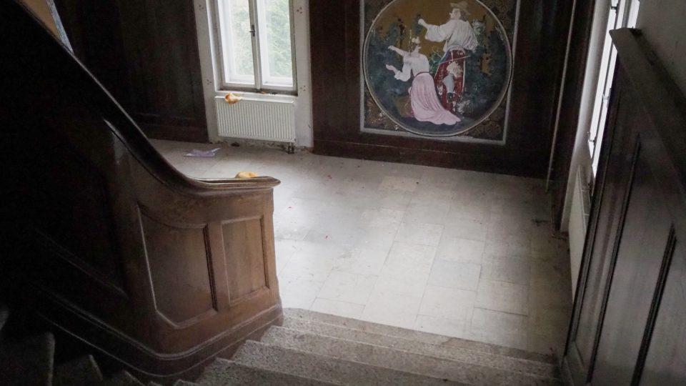 V místě malby se dříve nacházelo zrcadlo