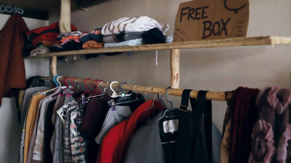 šatník a free box v komunitě Strážná