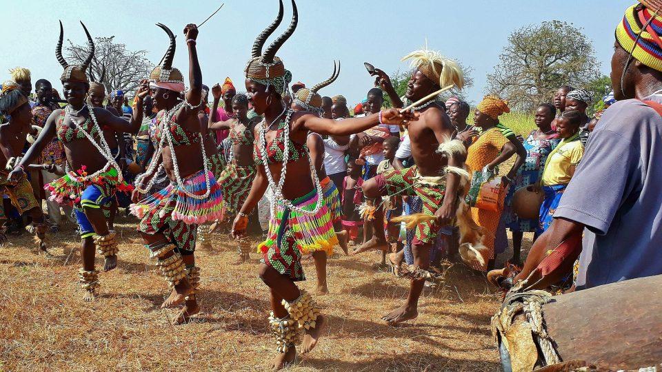 Etnikum Tata Somba, slavnost, Togo, listopad 2017