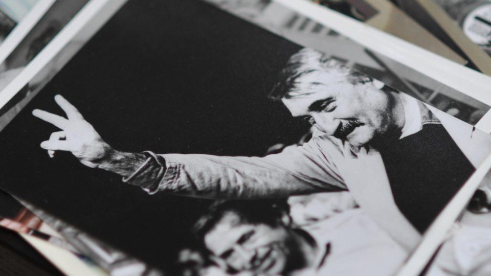 Václav Havel a Pavel Landovský. Fotka z archivu Moniky Arkai Dienstbierové