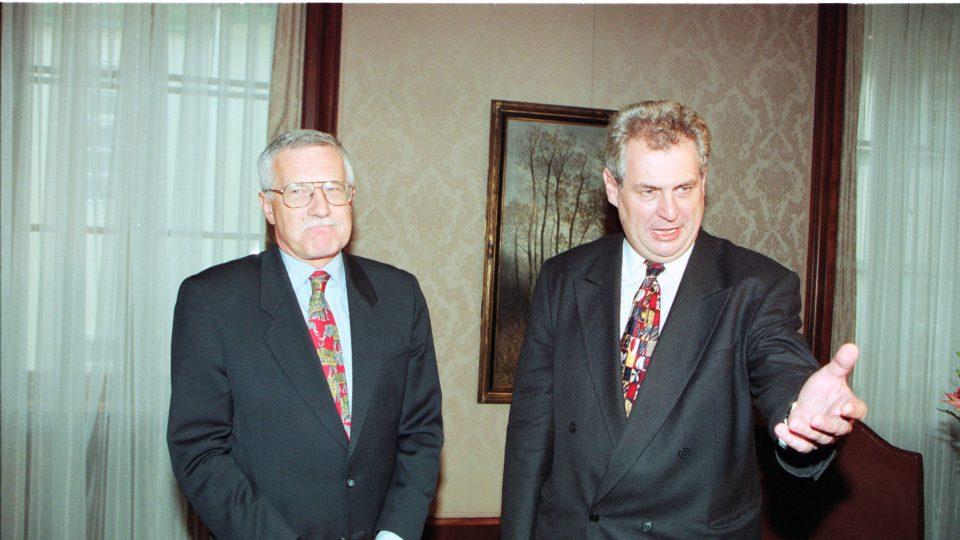 Václav Klaus a Miloš Zeman v časech opoziční smlouvy