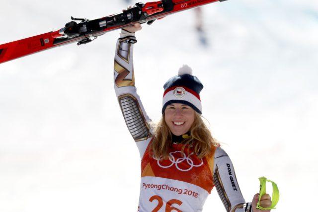 Ester Ledecká po senzačním vítězství v ženském Super-G