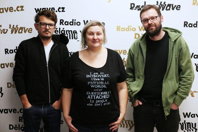 Spisovatel a publicista David Zábranský, Iva Baslarová z Katedry genderových studií na FHS  a Tomáš Pavlas z iniciativy Otevřená společnost