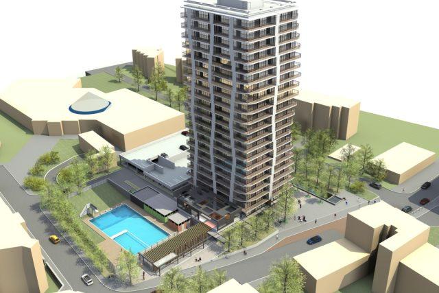 Nový plán na Šanovskou věž s veřejným bazénem vedle plavecké haly