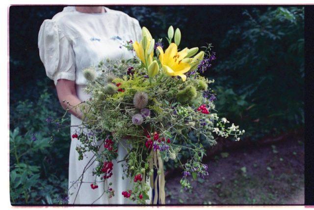 Svatební kytice brněnských květinářek Efemér