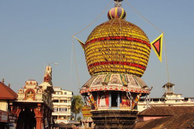 Pojízdný chrám v indické Udupi