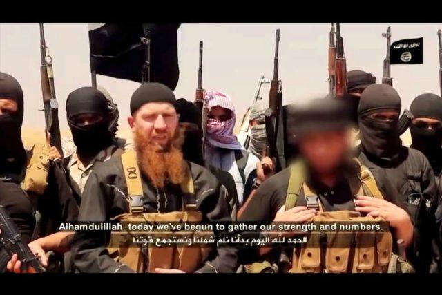 Ministr války Islámského státu Umar Šišání  | foto: zdroj: YouTube.com,  video Islámského státu