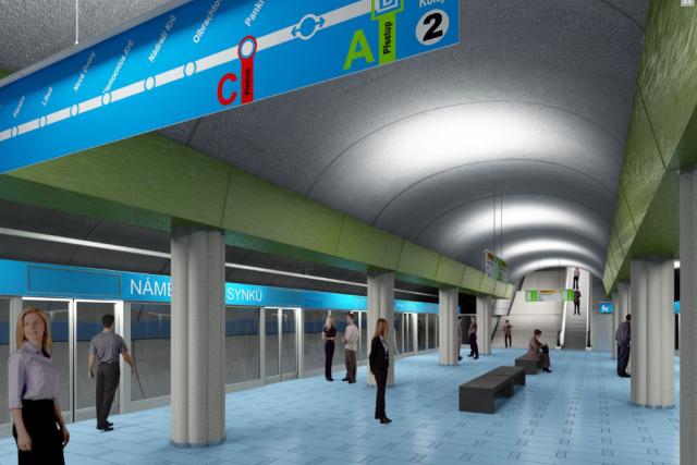 Budoucí stanice metra na Náměstí Bratří Synků