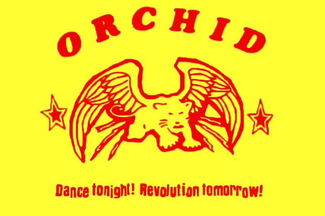Z přebalu alba kapely Orchid Dance Tonight! Revolution Tomorrow!