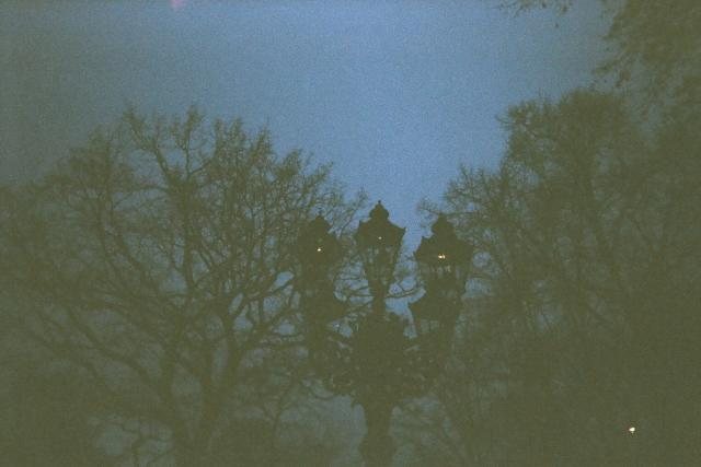 Lampa - smrt - umírání - noc