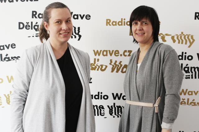 Grafická designérka Olga Vlčková a publicistka Karolína Vránková