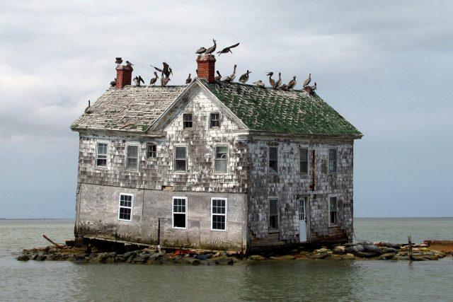 dům v moři - globální oteplování