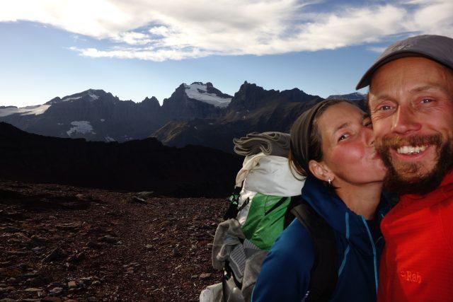 Red Gap Pass, Glacier, MO – poslední  sedlo před sestupem na hranici s Kanadou