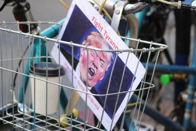 Protest proti Donaldu Trumpovi