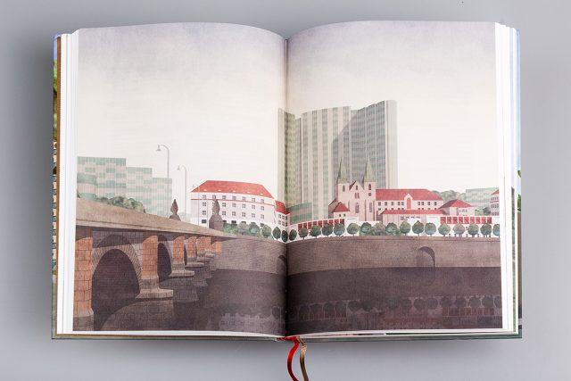 Ilustrace Jana Šrámka z publikace Pražské vize