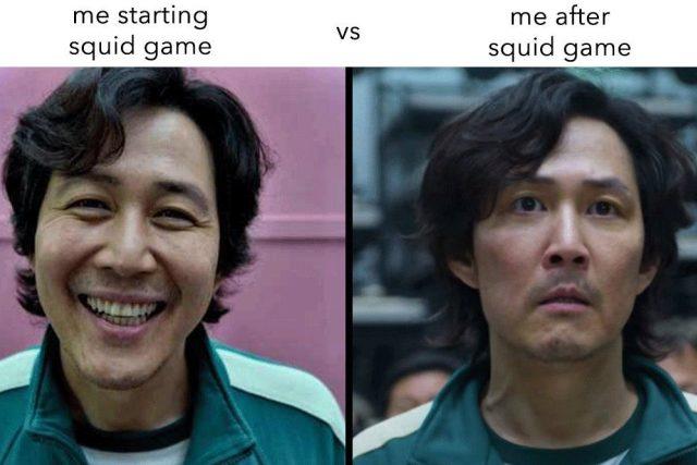 Squid Game meme | foto: internetový humor/autor neznámý