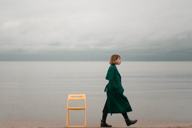 samota introvert pláž