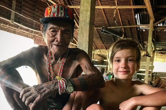 Dům šamana, vesnice Ugai, ostrov Siberut, Mentawaiské ostrovy, jižní Sumatra