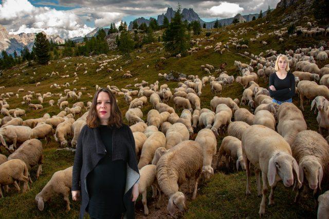 Zuzana a Ivana počítají ovečky