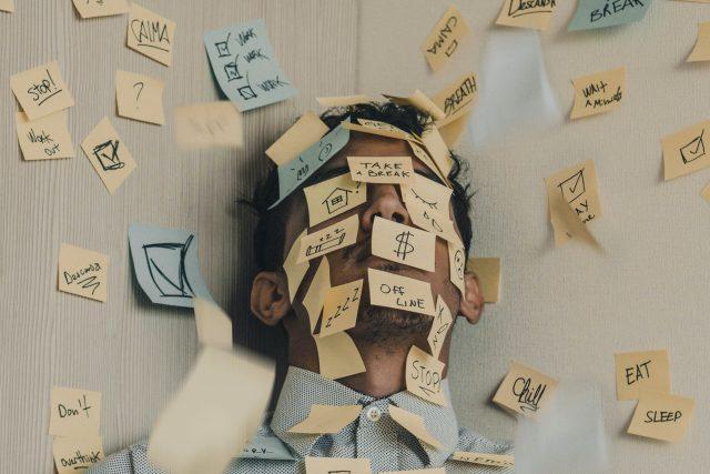 únava, vyčerpání, stres