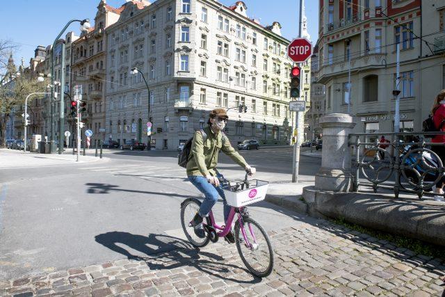 Cyklista v Praze